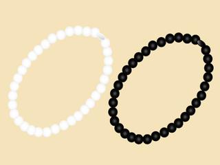 葬式用アクセサリー(白真珠・ジェットのネックレス)